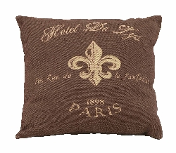 Terrell Hotel De Lys Brown Plush Pillow