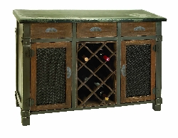Addalyn Wood Wine Cabinet