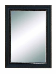 Tala Beveled Brown Frame Wall Mirror
