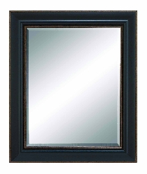 Jordy Beveled Brown Frame Wall Mirror