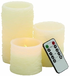 Livingston Flameless Candle & Remote Set