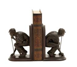 Getting Ready to Golf Bookend Set