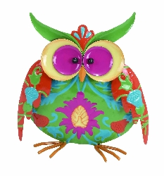 Beatrix Colorful Mottled Owls Table Decor