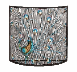 Shiloh Birds Fireplace Screen