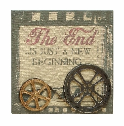 The End is a New Beginning Movie Reel Wall Décor