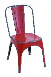 Ledger Retro Red Chair