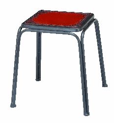 Vito Retro Red Stool