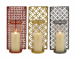 Krashen Metal & Glass Wall Sconce Set/3