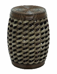 Haylie Wicker Weave Barrel Stool