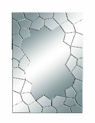 Darwin Cracked Edge Contempo Wall Mirror