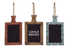 Tulip Hanging Wood Chalkboard Set/3