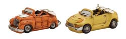 Canadice Orange & Yellow Car Piggy Bank Set/2