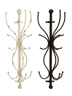 Jedlik Metal Wall Coat Rack Set/2
