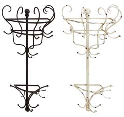 Kalliope Metal Wall Coat Rack Set/2