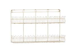 Margaux White Polished Attractive Metal Storage Shelf