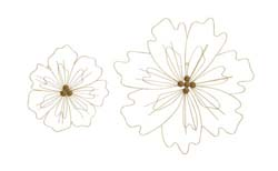 Zinnia Patterned Metal Wall Decor Set/2