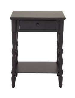 Wanke Black Polished Wood Side Table