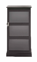 Orrin Black Wood & Glass Cabinet