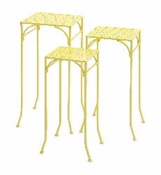 Mastara Yellow Metal Plant Stand