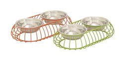 Lascombes Colored Metal Pet Feeder Set/2