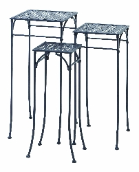 Medovka Square Plant Stands Set/3