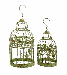 Raylen Olive Birdcages Set 2