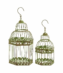 Raeleigh Olive Birdcages Set 2