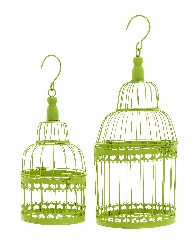 Mariella Green Bird Cage Set 2