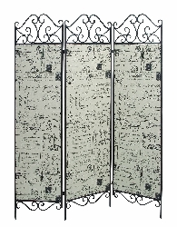 Eunice Postcards 3 Panel Room Divider
