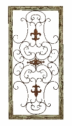Karissa Architectural Fleur de Lis European Wall Panel
