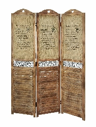 Janiah Recipes 3 Panel Room Divider