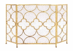 Pascale Yellow Metal Fireplace Screen