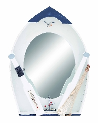 Bryden Seaside Nautical Row Boat Mirror
