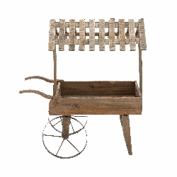 Mrgavan Garden Covered Cart Planter