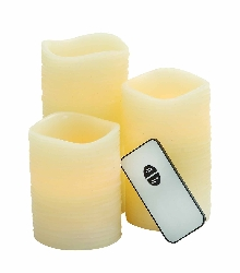 Eamon Cream Led Candle & Remote Set