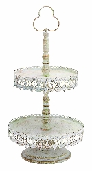 Betty Victorian Two Tier Cookie Dessert Tray