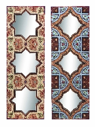 Asiya Ethnic Wall Mirror Set 2