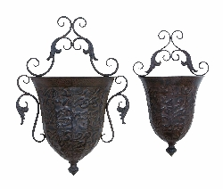 Ania Embossed Wall Planter Set 2