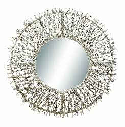 Yuri White Twig Wood Mirror