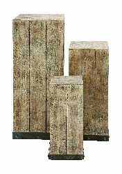 Lou's Reclaimed Wood Pedestal Set 3