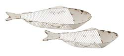 Willis White Fish Tray Bowl Set/2