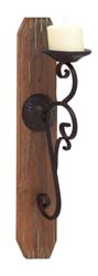 Novalis Wood Candle Sconce