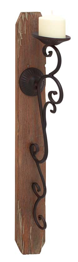 Novara Elegant Wood Candle Sconce