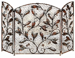 Malaki Leaves Fireplace Screen