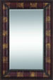 "Manu 70"" High Rectangular Wood & Leather Mirror"