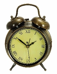 Agatha Table Clock Antique Brass