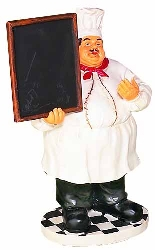 "Collette 10"" High Chef Chalkboard"