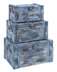 Mikaeel Wood Trunk Set 3