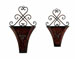 Jakobe Top Scrolled Wall Planter Set 2