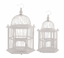 Laverne Set of 2 Wood Birdcage